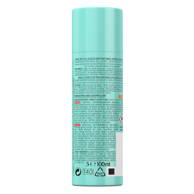 Tinte retoca raíces instantáneo rubio claro Magic Retouch L'Oréal 100 ml. -