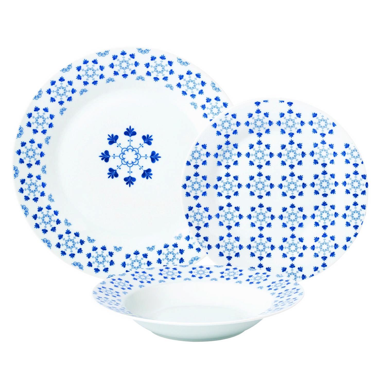 Vajilla Porcelana PRIMAGERA Mosaico 18 pzs - Azul