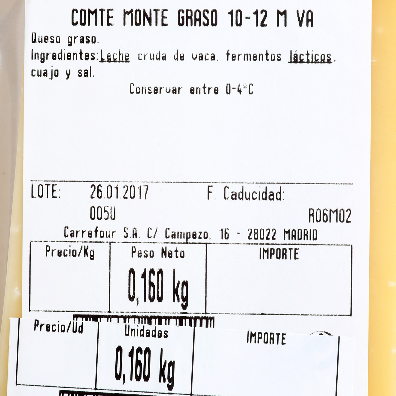 Queso comte juramon 10-12M Corte Cuadrado - 3
