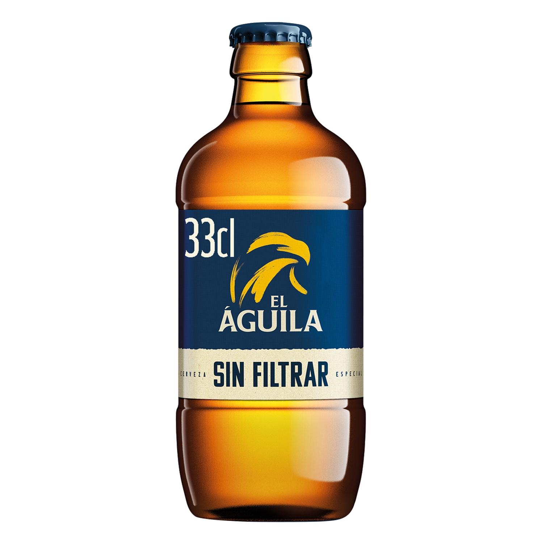 Cerveza El Águila Sin Filtrar botella 33 cl.