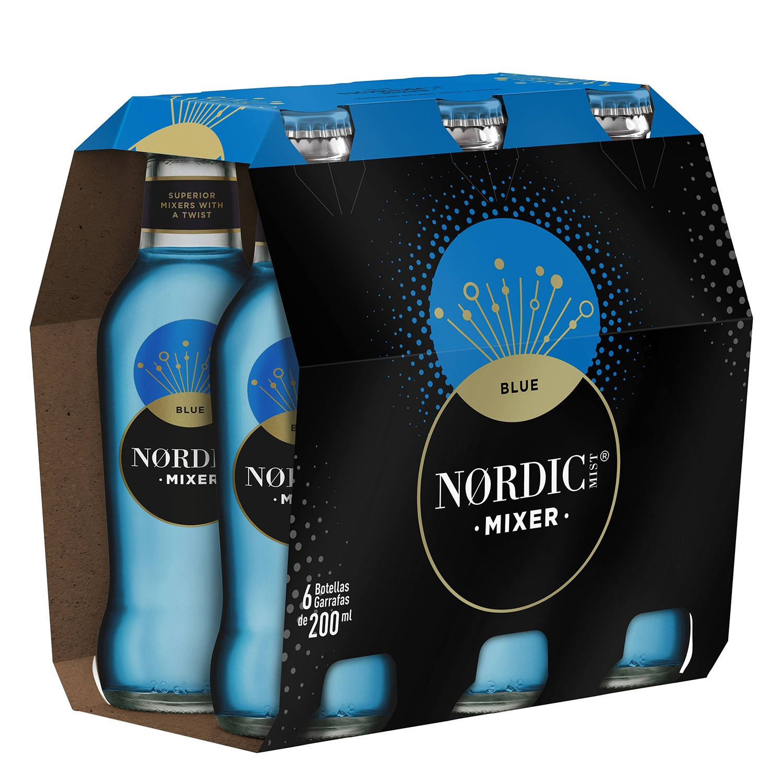 Tónica Nordic Mist Blue pack de 6 botellas de 20 cl.