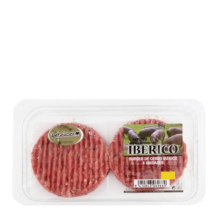 Hamburguesa de Cerdo Ibérico El Pozo 4 Unds 320 g  -