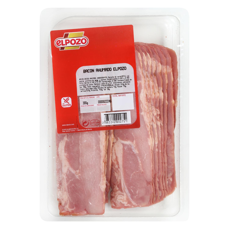 Bacon ahumado lonchas El Pozo envase 300 g -