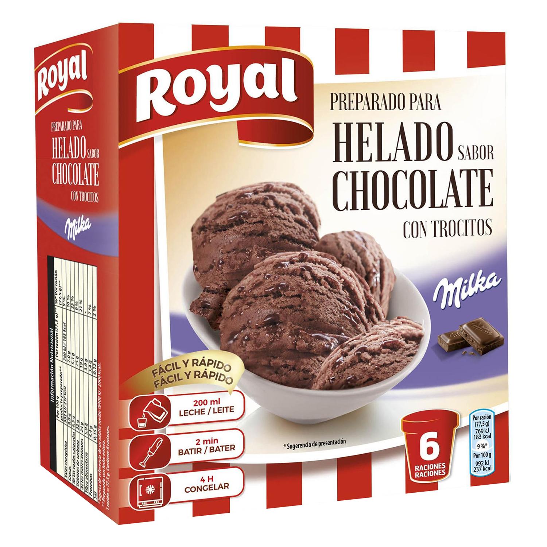 Preparado para helado de chocolate Milka