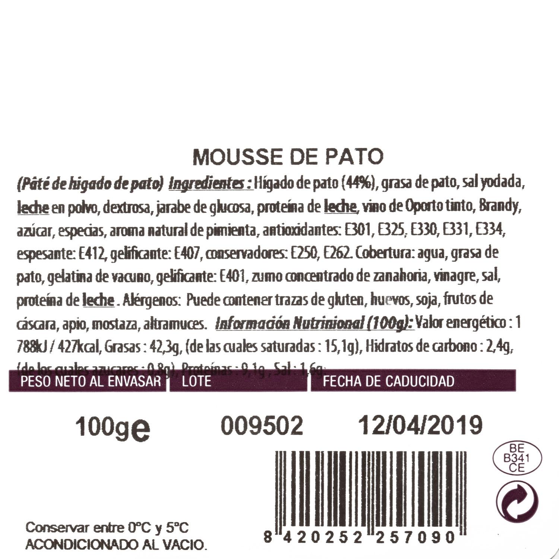 Mousse de foie de pato Capdevila 100 g - 3