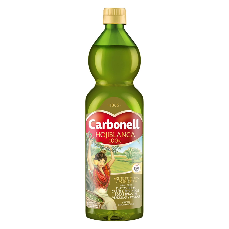 Aceite de oliva virgen extra hojiblanca Carbonell 1 l.