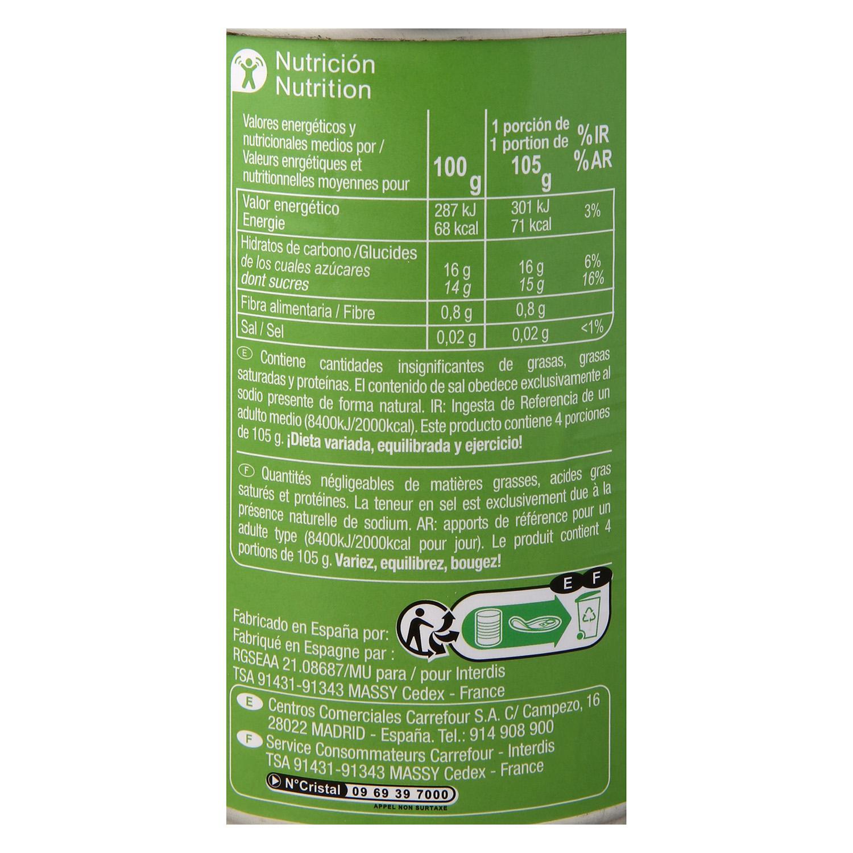Frutas variadas en almíbar ligero Carrefour 420 g. - 2
