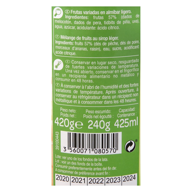 Frutas variadas en almíbar ligero Carrefour 420 g. - 3