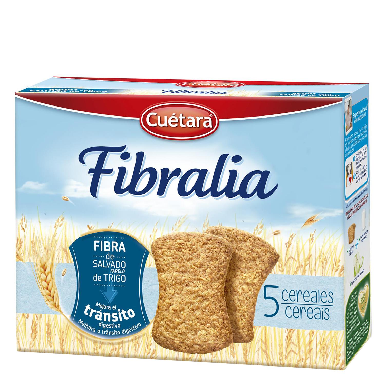 Galleta Fibralia 5 cereales con fibra de salvado de trigo