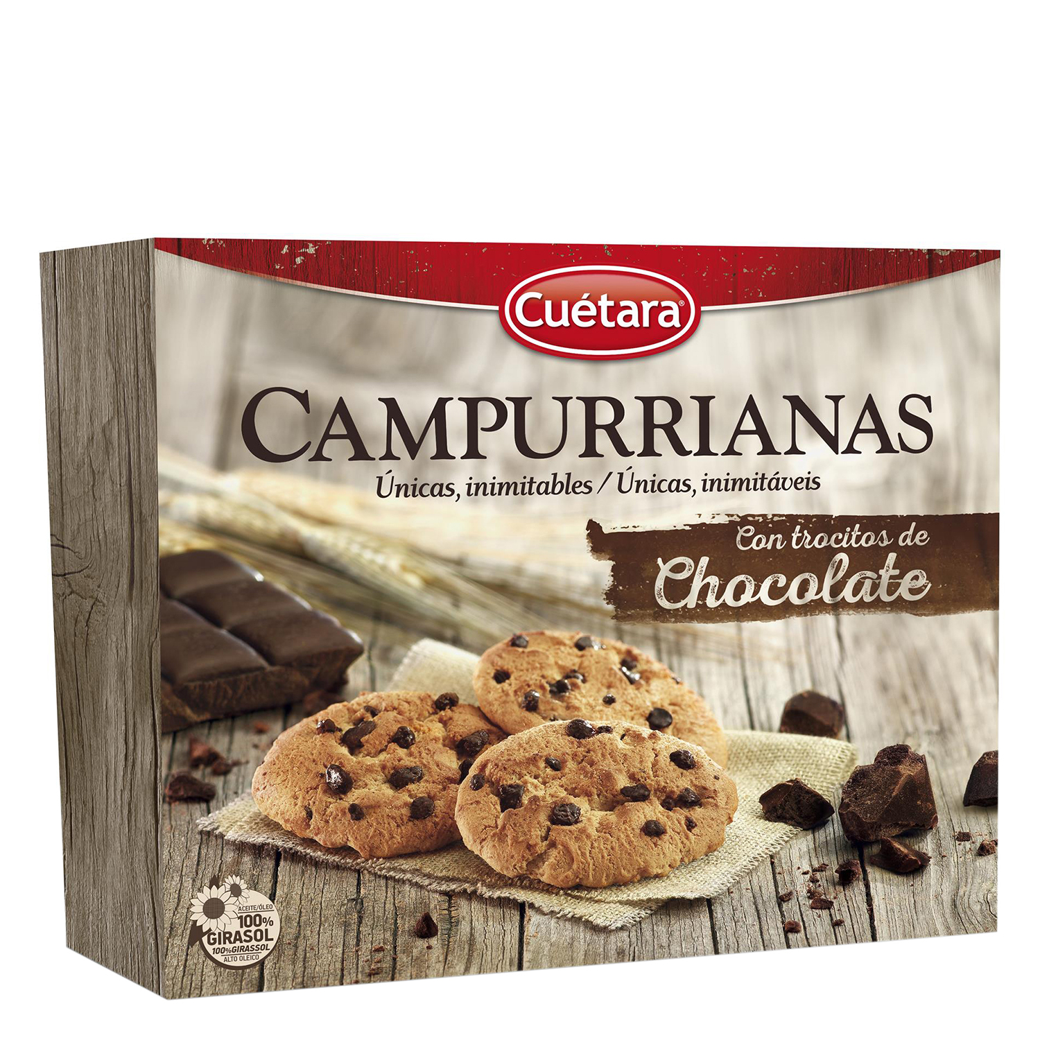 Galletas campurrianas con trozos de chocolate Cuétara - Carrefour ...