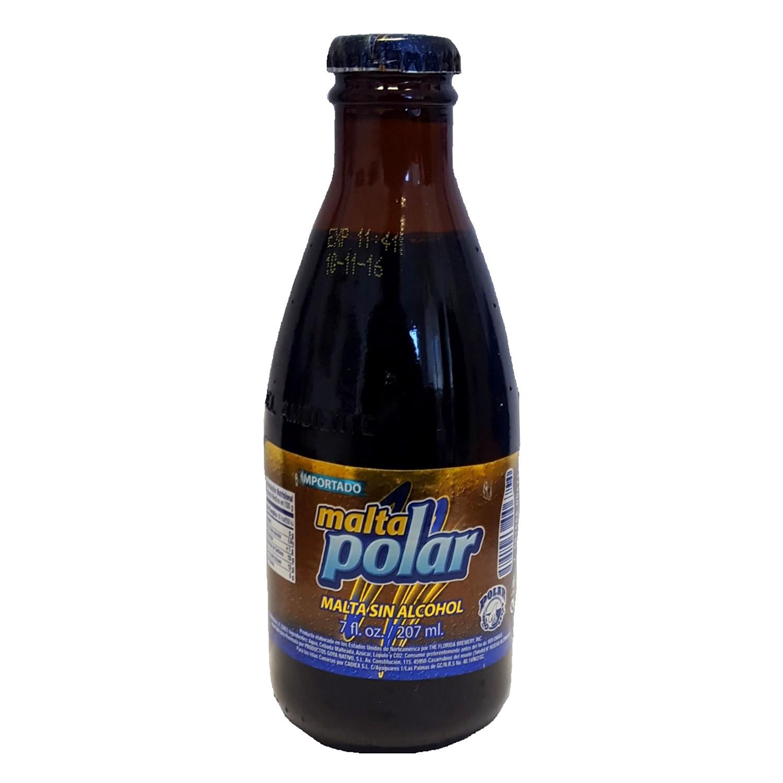 Cerveza Malta Polar sin alcohol botella 20,7 cl.