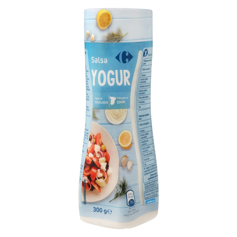 Salsa yogur Carrefour envase 300 g.