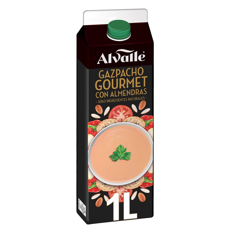 Gazpacho gourmet con almendras Alvalle 1 l.