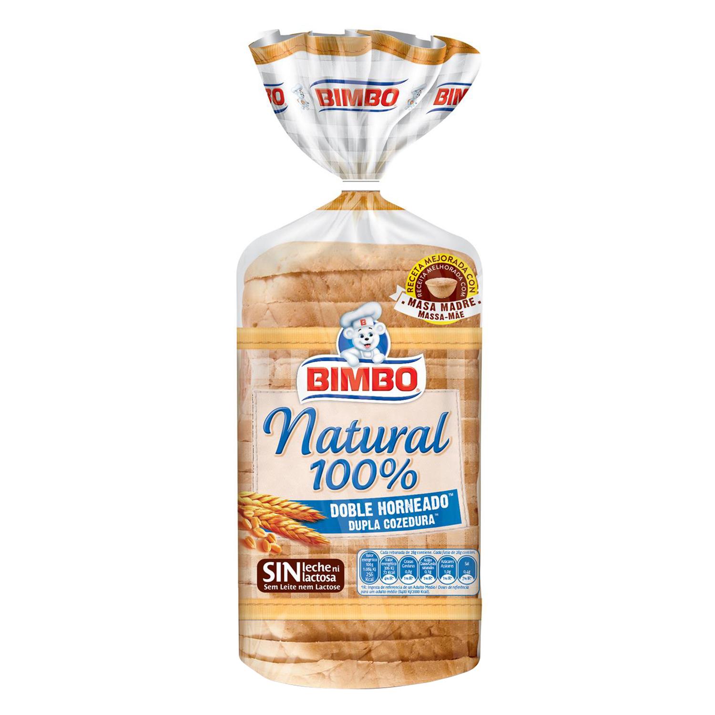 Pan sándwich natural 100% Bimbo 460 g.