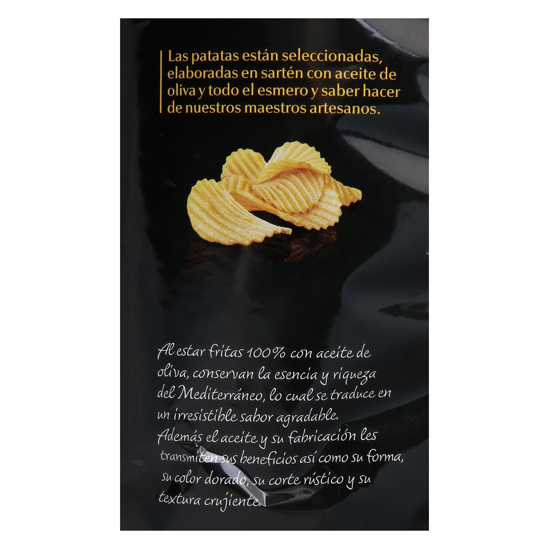Patatas fritas onduladas en aceite de oliva  Carrefour Selección 130 g. - 2