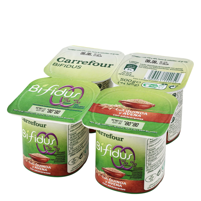 Yogur bífidus desnatado con quinoa y avena