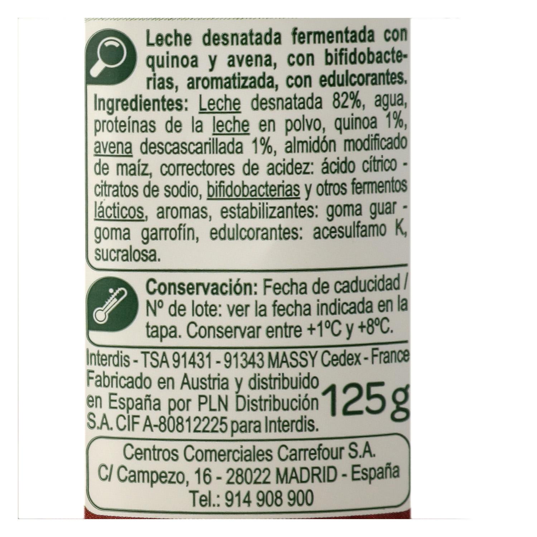 Yogur bífidus desnatado con quinoa y avena - 2