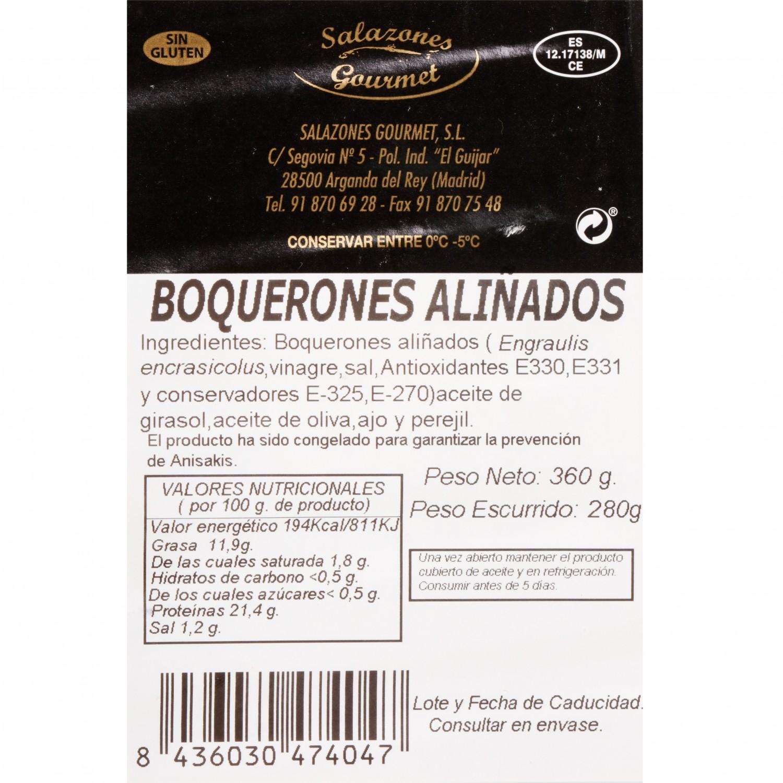 Boquerón en vinagre aliñado, Salazones Gourmet 280 g - 3