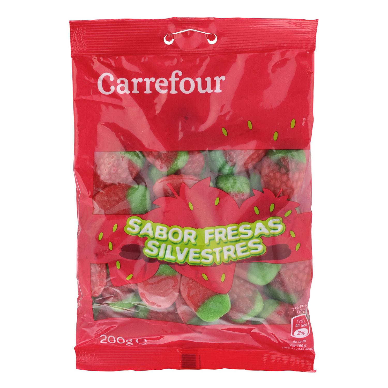 Caramelos de goma de fresa silvestre
