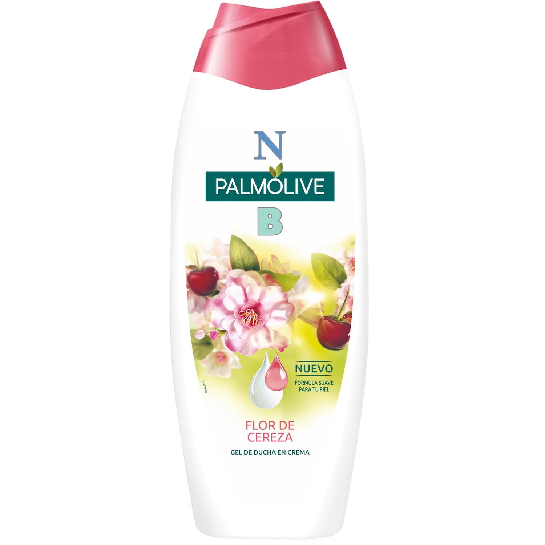 Gel de ducha Palmolive con Flor de cereza y Leche Hidratante
