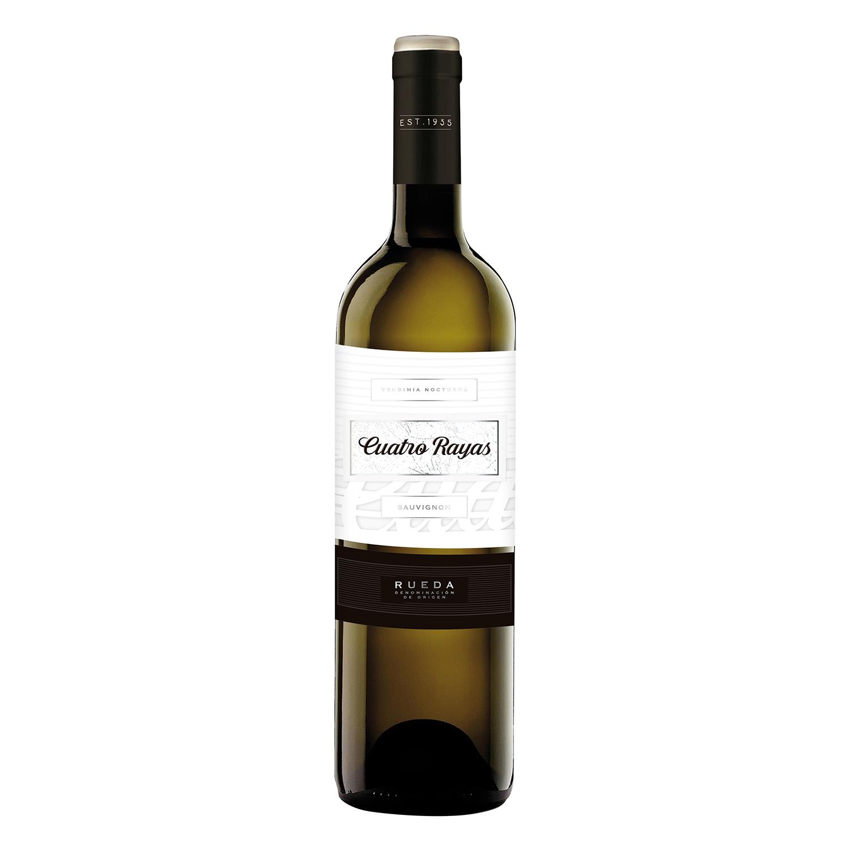 Vino D.O. Rueda blanco sauvignon Cuatro Rayas 75 cl.
