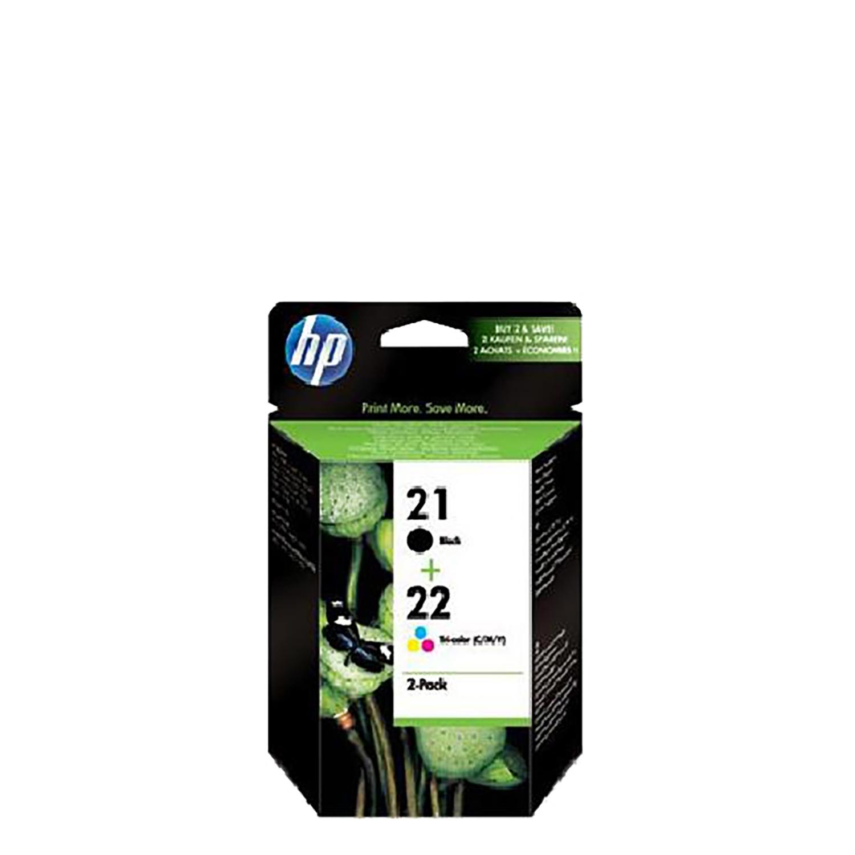 Pack Cartuchos de Tinta HP 21/22 - Negro