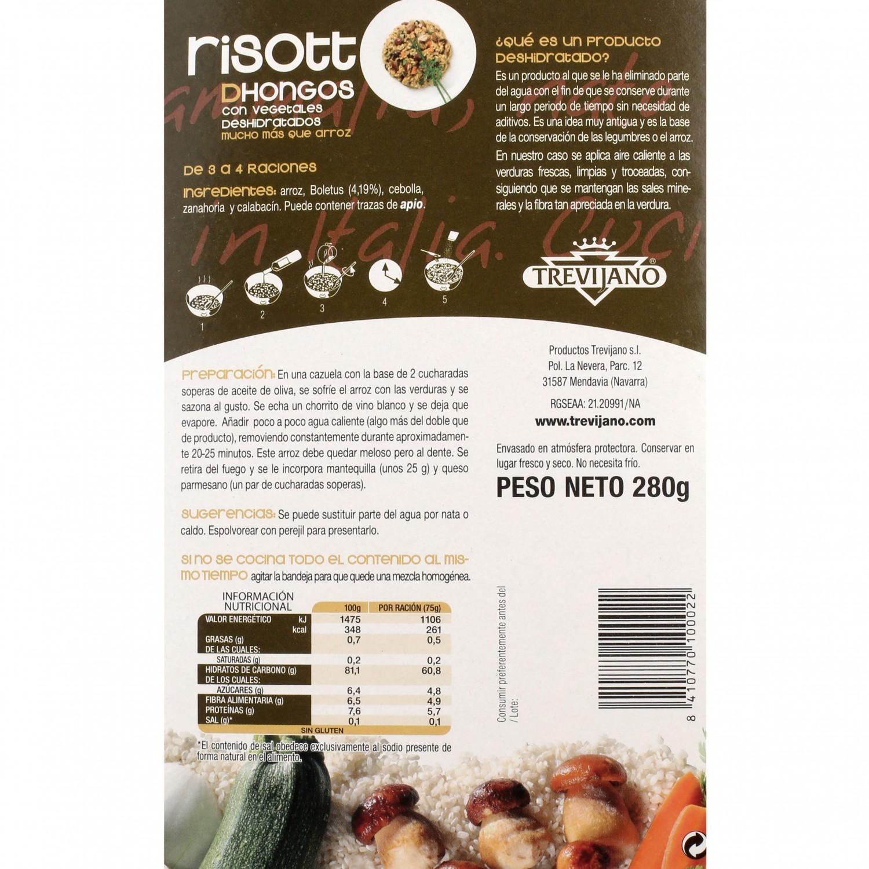 Risotto de hongos deshidratado Trevijano envase 280 g - 3