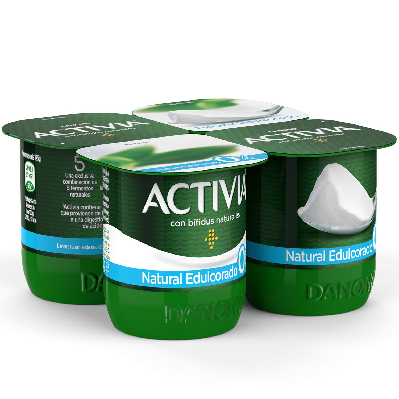 Yogur desnatado natural edulcorado