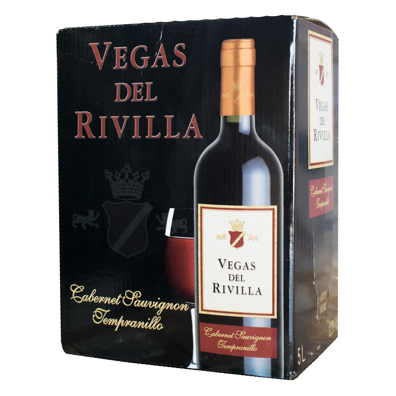 Vino de mesa tinto Vegas del Rivilla 5 l.