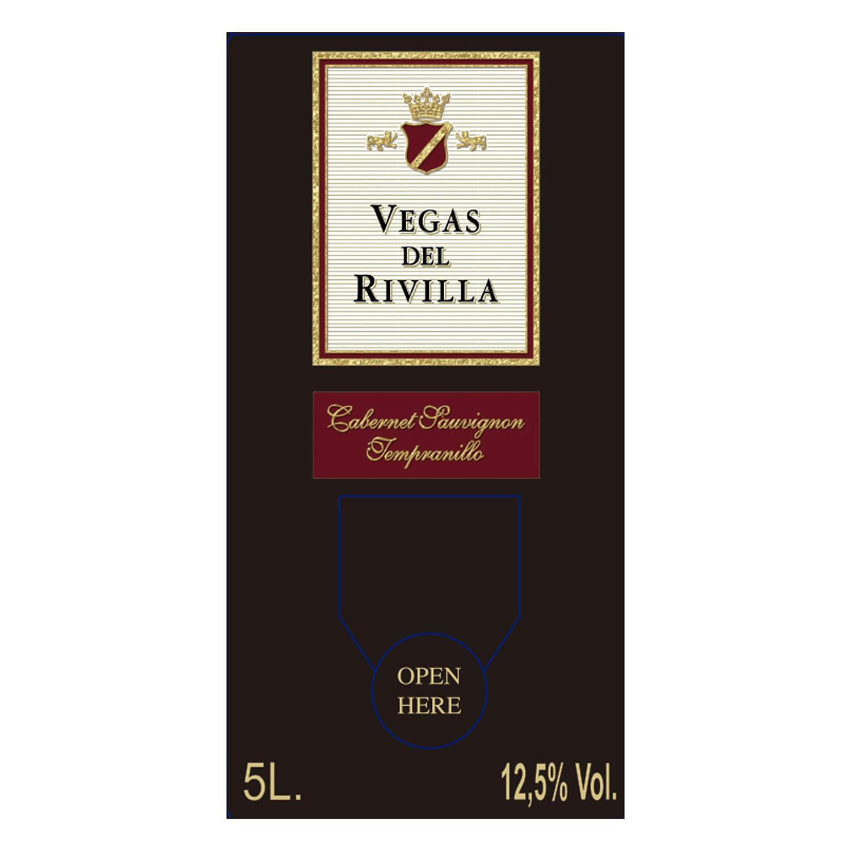 Vino de mesa tinto Vegas del Rivilla 5 l. - 2