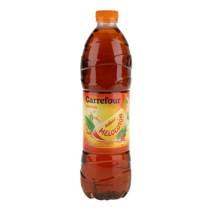 Refresco de té Carrefour sabor melocotón botella 1,5 l.