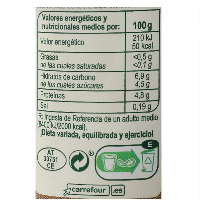 Yogur bífidus desnatado con quinoa y trigo de espelta Carrefour pack de 4 unidades de 125 g. -