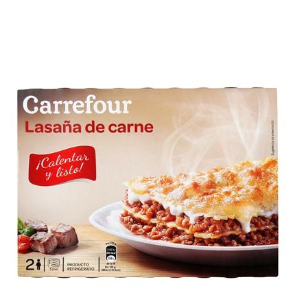 Carrefour Lasaña con Carne