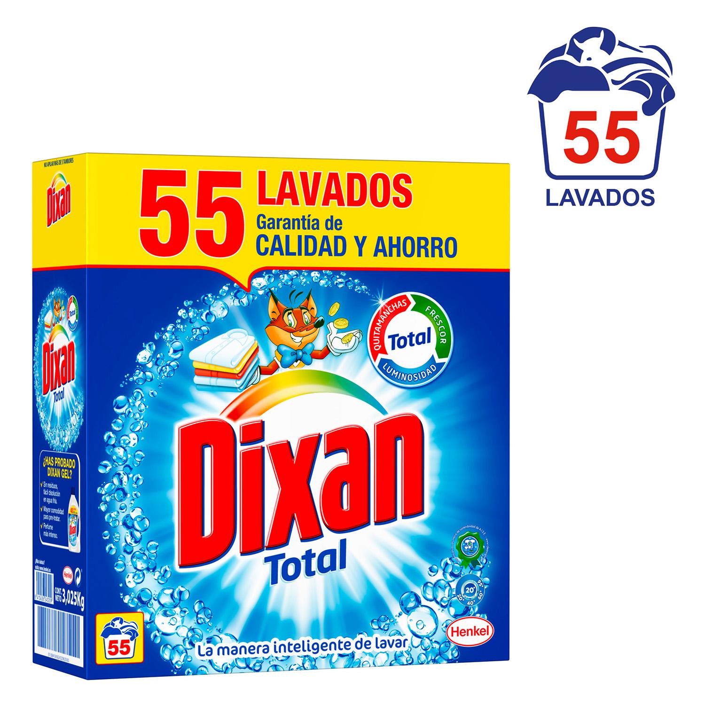 Detergente En Polvo Con Quitamanchas Anti Cal Dixan Carrefour  ~ Mejor Detergente Lavadora Calidad Precio