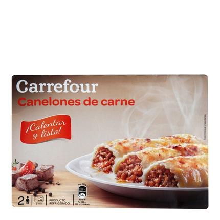 Carrefour Canelones Carne 400 g.