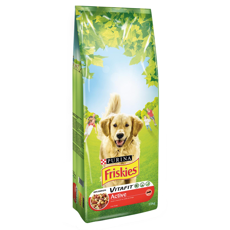 Purina Friskies Vitafit Active Pienso para Perro Adulto Buey 15Kg