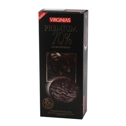 Galleta bañada de chocolate premium 70%