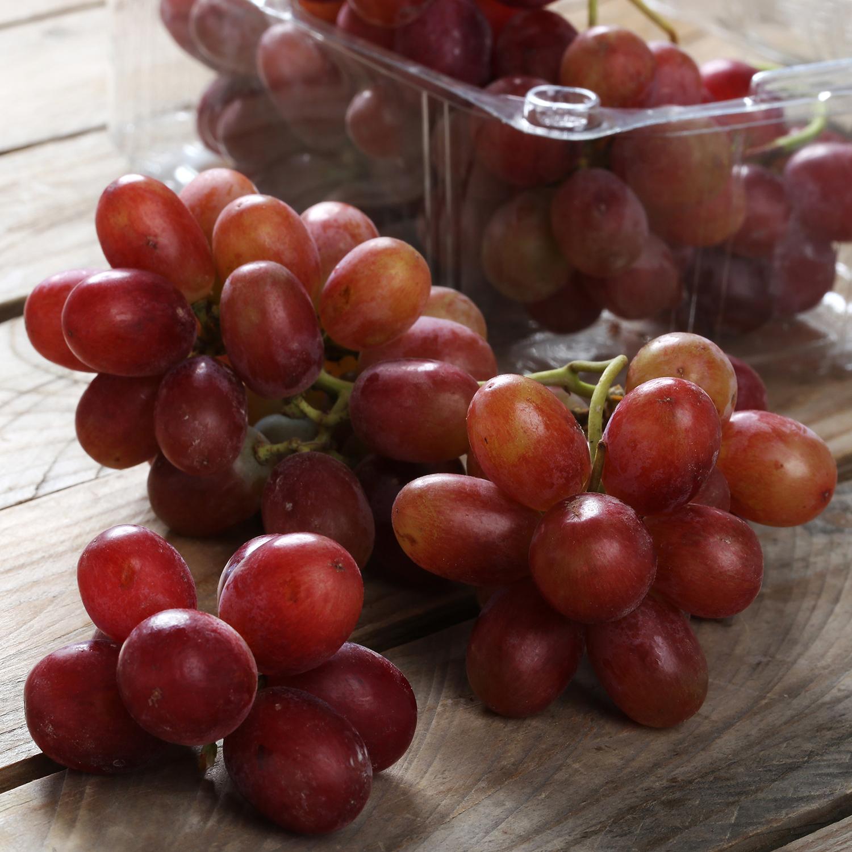 Uva roja sin pepitas premium selecta Carrefour tarrina 500 g