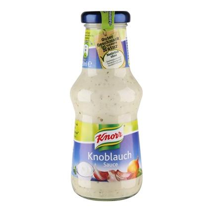 Salsa knoblauch Knorr botella 250 g.