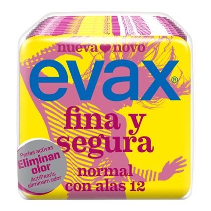 Compresas Fina y Segura normal con alas Evax 12 ud.