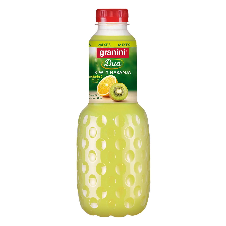 Zumo de kiwi y naranja Granini botella 1 l.