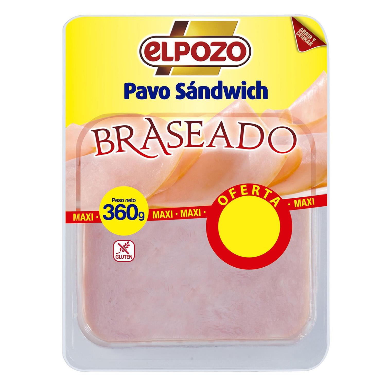 Pavo sándwich braseado sin gluten
