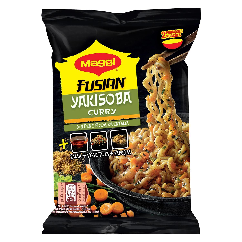 Fideos curry yakisoba Fusian