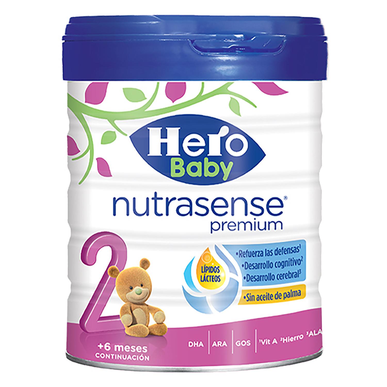 Leche en polvo continuación Nutrasense Premium 2 Hero Baby 800 g.