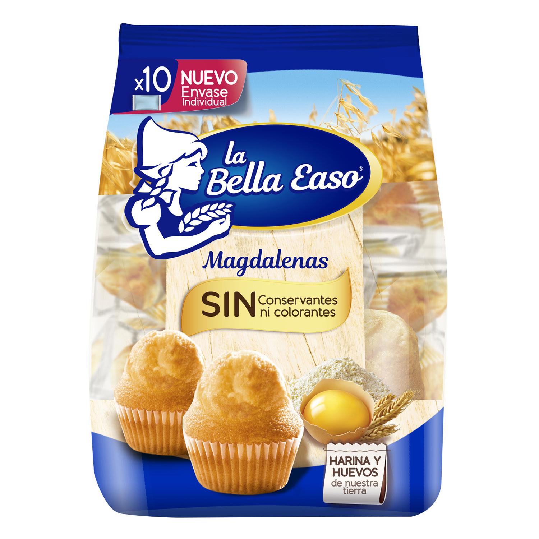 Magdalenas redondas La Bella Easo 10 ud.