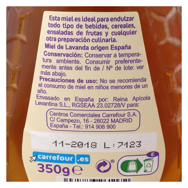 Miel de lavanda antigoteo Carrefour 350 g. - 2