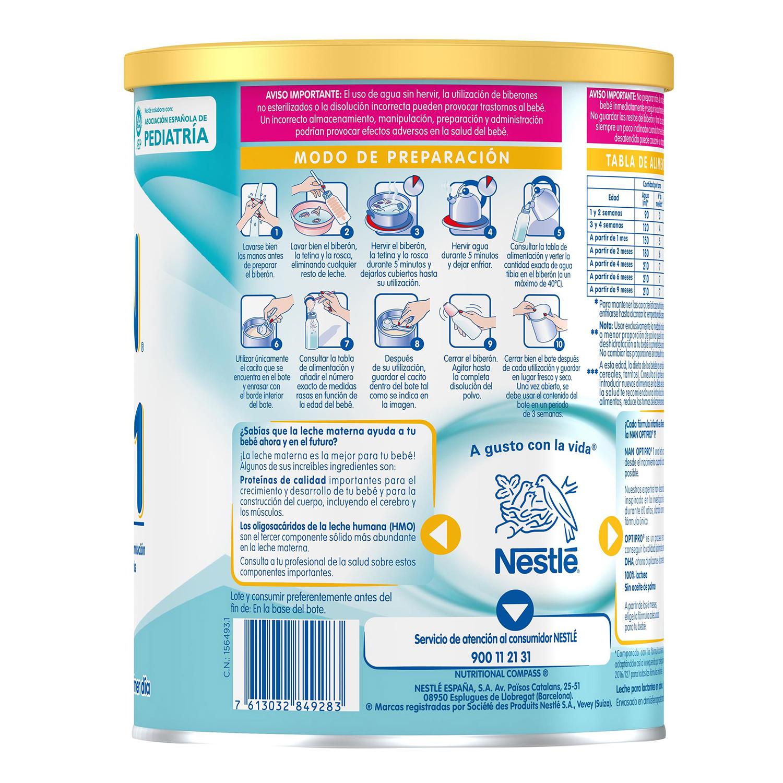 Leche infantil para lactantes desde el primer día en polvo Nestlé Nan Optipro 1 lata sin aceite de palma 800 g. - 4