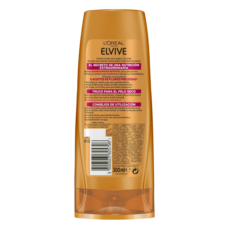 Acondicionador Aceite Extraordinario para cabello seco L'Oréal-Elvive 300 ml. -