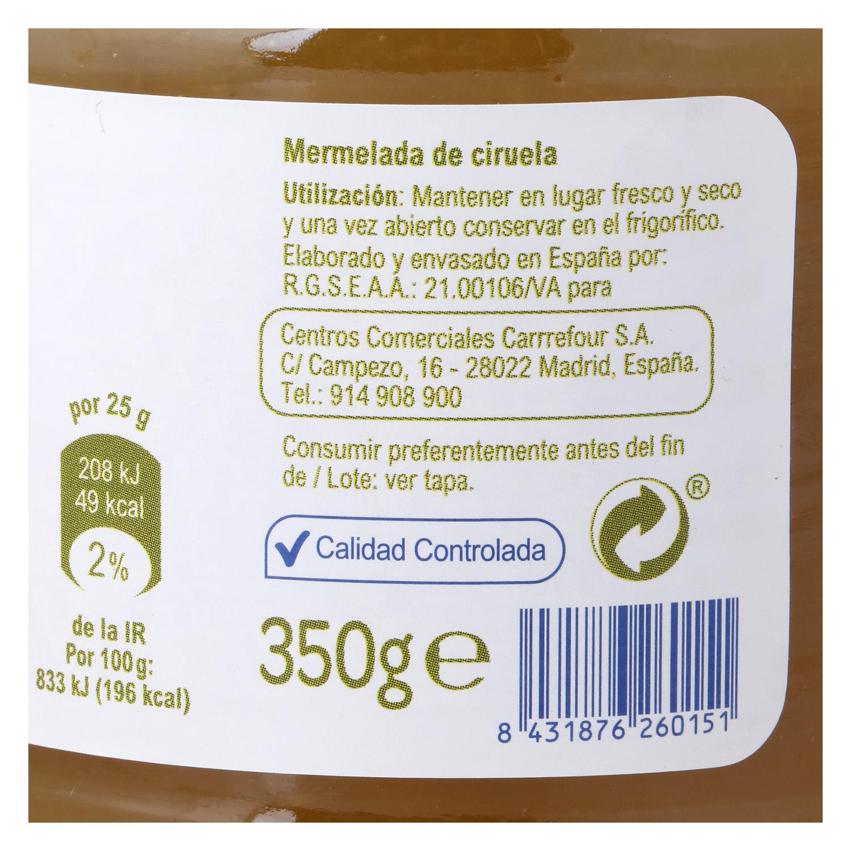 Mermelada de ciruela Producto blanco 350 g. - 2