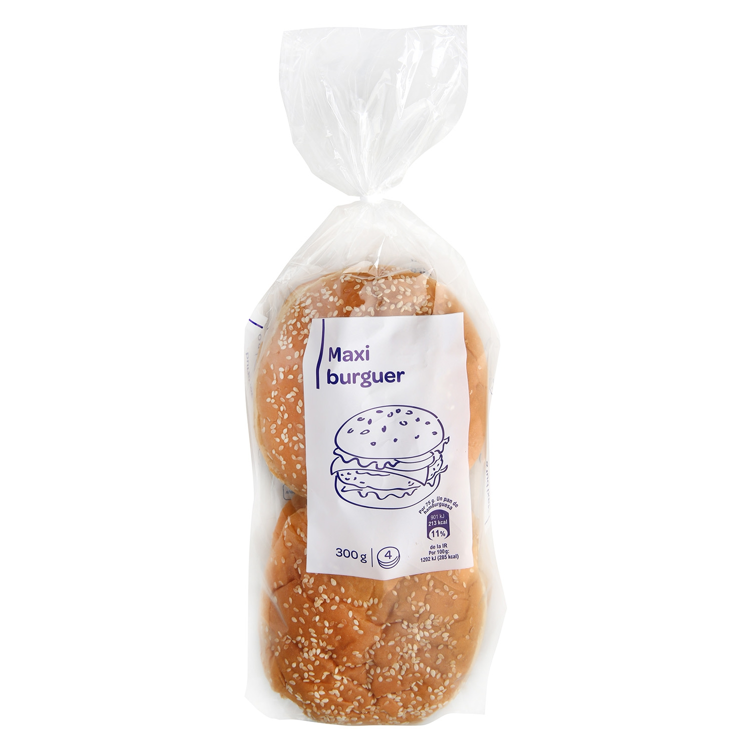 Pan maxi burguer Producto blanco 300 g.